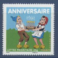 N° 4081 Anniversaire Du BF N°112, Faciale Lettre Prioritaire - France