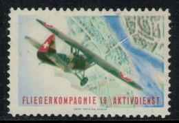 Suisse /Schweiz/Switzerland // Vignette Militaire // Flieger, Kp.19 - Poste Militaire