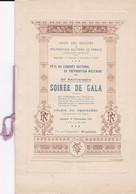 FETE DU CONGRES NATIONAL DE PREPARATION MILITAIRE, Soirée De Gala, 11 Novembre 1911 - Programmes