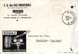 Carte Publicitaire Illustrée Haren Nord - SA Des Gaz Industriels - Appareild De Soudure Vilvoorde 1944 - Vilvoorde