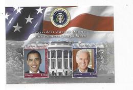 Liberia 2008 Barrack Obama Joseph Biden S/S MNH - Liberia