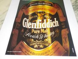 PUBLICITE  WHISKY GLENFIDDICH 1988 - Alcohols