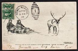 ALASKA: Carte Obl. Nome (Alaska) En 1906 Situé à L'extrème Pointe Ouest De L'Alaska. Très RARE Ainsi. - Expéditions Arctiques