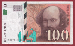 "100 Francs ""Cézanne"" 1997-----ALPH.U ---Numéro.027140826--DANS L ETAT - 1992-2000 Ultima Gama"