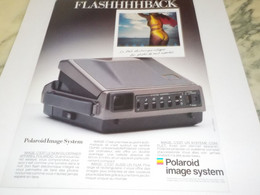 ANCIENNE PUBLICITE APPAREIL PHOTO POLAROID 1988 - Fotografía