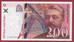 """200 Francs """"Eiffel"""" 1995 ----ALPH -L----numéro .004828491---DANS L ETAT - 200 F 1995-1999 ''Eiffel''"""