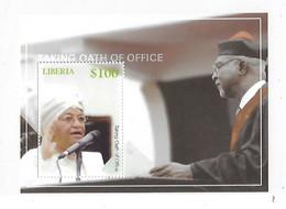 Liberia 2006 President Sirleaf Taking Oath Of Office S/S MNH - Liberia
