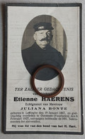 Etienne Haerens °Leffinghe 19-01-1867 En † Oostende (Vuurtoren) 06-02-1927 X Juliana Bonte - Alte Papiere
