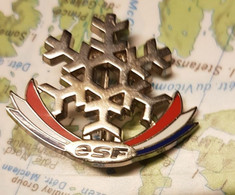 Broche Insigne Brevet Ecole Ski Esf Caf - Pins