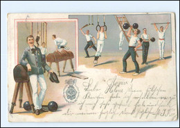U5196/ IX. Dt. Turnfest In Hamburg 1898 Turnen Litho AK   Sport - Altri