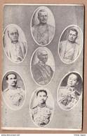 Old SIAM Kings Rama I To Rama VII / Mongkut / Chulalongkorn Etc BANGKOK Postcard Cpa Thailande Thailand Roi RARE King - Tailandia