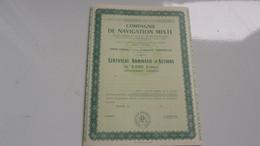COMPAGNIE DE NAVIGATION MIXTE - Actions & Titres