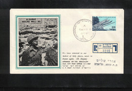 Israel 1967 Opening Of The Jerusalem Old City  Post Office Interesting Registered Letter - Storia Postale