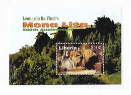 Liberia 2003 Mona Lisa Leonardo Da Vinci S/S MNH - Liberia