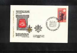 Israel 1964 Nazareth Pilgrimage Of Paul VI - Storia Postale
