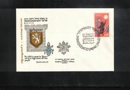 Israel 1964 Jerusalem Pilgrimage Of Paul VI - Storia Postale