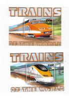 Liberia 2001 Trains Of The World Train 2 S/S MNH - Liberia