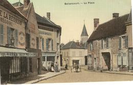 91 -  BALLANCOURT - La Place Hôtel De La Réunion Et Restaurant De La Renaissance  Carte Toilée   5 - Ballancourt Sur Essonne