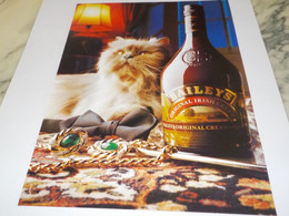 PUBLICITE  EUPHORIE DOUCE  BAILEYS 1989 - Alcohols
