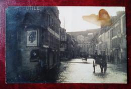 """Carte Photo Ancienne - Quimper - Villard - Devanture """" Machines Agricoles"""" - Publicité Lefèvre-Utile (LU) - Quimper"""