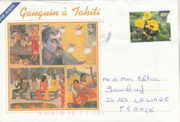 Polynésie Yvert 677 Fleurs De Sel Mahina 12/2002 Lettre Illustrée Recto Verso Pour Sauveboeuf Lalinde Dordogne - Frans-Polynesië