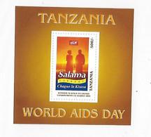 Tanzania 1997 World Aids Day S/S MNH - Tanzania (1964-...)
