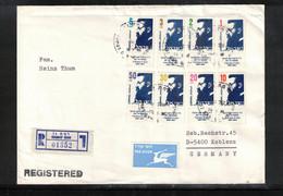 Israel 1986 Interesting Registered Letter - Israele