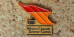 Pin's SPORTS - Jeux D'été Ouest Canadien 1990 Western Canada Summer Games - Peint Cloisonné - Fabricant MR. PIN MAN - Pin's & Anstecknadeln