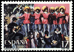 FIESTAS POPULARES - AÑO 1986 - Nº EDIFIL 2840 - 1931-Aujourd'hui: II. République - ....Juan Carlos I