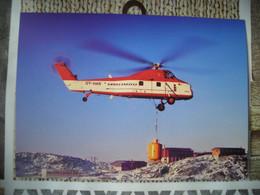 Représentation Du Timbre, Sikorsky S58ET Hélicoptère Helicopter - Groenlandia