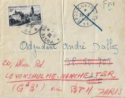 Indochine Poste Aux Armées TOE Et BPM 402 - Postmark Collection (Covers)