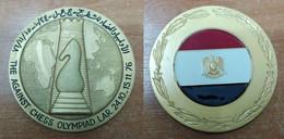 AC -  THE AGAINST CHESS OLYMPIAD LAR 24.10 - 15.11. 1976 MEDAL MEDALLION LIBYAN ARAB REPUBLIC - Altri