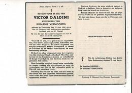Dp 10994 - VICTOR DALDINI - VERMOORTEL - ZWEVEZELE 1866 + 1945 - Devotion Images