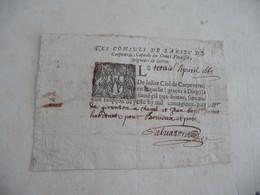Carpentras Vaucluse Vénassin Peste Laisser Passez Bonnieux  03/04/1665 Par De Givenson Autographe - Historical Documents