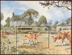 Guernsey 1992 Agriculture Cows Minisheet MNH - Farm