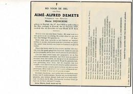 Dp 10995 - AIME DEMETS - DEJONCKERE - DEERLIJK 1878 + KORTRIJK 1947 - Devotion Images