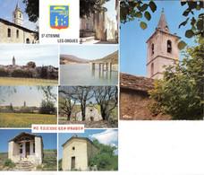 LOT DE 3 CPSM DE SAINT ETIENNE LES ORGUES - Other Municipalities