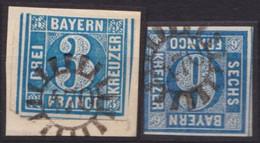 """GMR, """"470"""", Klar Auf Mi-Nr. 2 Und 10 - Bayern"""