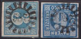 """GMR, """"587"""", Klar Auf Mi-Nr. 2 Und 10 - Bayern"""