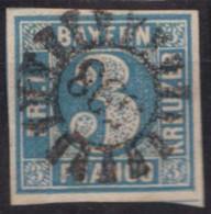 """GMR, """"598"""", Klar, Zentriert Auf Mi-Nr. 2 - Bayern"""