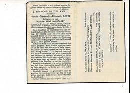 Dp 10996 - MARTHE BAETE - MONCAREY - BRUGGE 1921 + KORTRIJK 1945 - Devotion Images