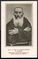 """Servo Di Dio Padre Gioacchino La Lomia Da Canicattì (1831-1905) - (Milano - Anni Quaranta) - """"Riproduzione"""" - Devotion Images"""