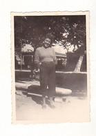 PHOTO 6 X 8 JTRES BELLE  FEMME FRAU LADY  PIN UP A ARCACHON   ANNEE 1946 - Non Classificati