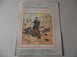 Protège Cahier, Fin XIX, Bataille De FROESCWILLER,  Récits Patriotiques, Guerre 70/71, - Protège-cahiers