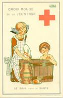 MAGGIE SALZADO BELGIUM  RED CROSS ADVERT MEDICAL MEDICINE  LE BAIN DE SAINTE - Croce Rossa