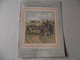 Protège Cahier, Fin XIX, ARMEE ALLEMANDE,   Récits Patriotiques, Guerre 70/71, Artillerie à Cheval - Protège-cahiers