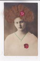 CP FANTAISIE FEMME Portrait Avec Vrais Cheveux - Femmes