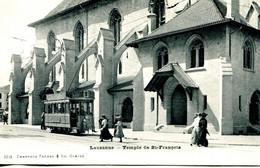 N°4695 R -cpa Lausanne -temple De St François- - VD Waadt