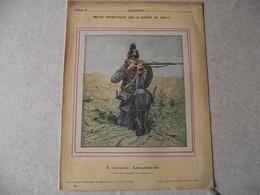 Protège Cahier, Fin XIX, ARMEE ALLEMANDE,   Récits Patriotiques, Guerre 70/71, Fantassin Bavarois En Tirailleur - Protège-cahiers