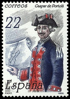 GASPAR PORTOLA - AÑO 1986 - Nº EDIFIL 2866 - 1931-Aujourd'hui: II. République - ....Juan Carlos I